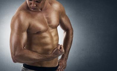 strong athletic man - Muscular man