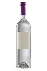 Bottle isolated with blank label. Clipping path included