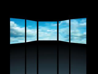 five windows