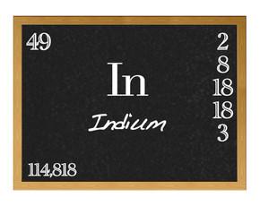 Indium, In.