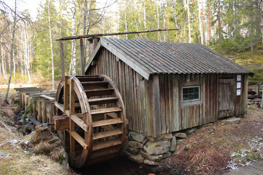 A watermill in the Swedish country