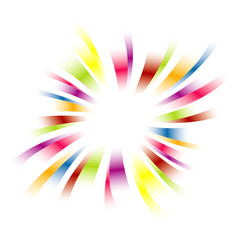 Rainbow celebration frame burst vector.