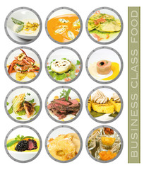 business class food