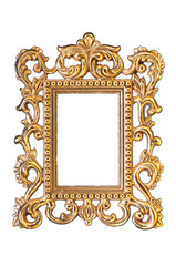 elegant, vintage  gold frame with clipping path
