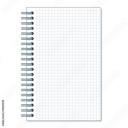 Carnet petits carreaux fichier vectoriel libre de for Feuille a carreaux
