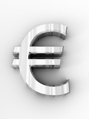 3d metal euro symbol