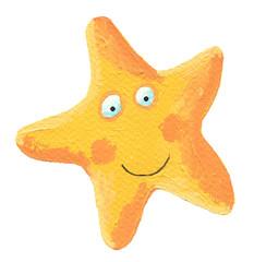 Funny yellow star