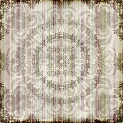 vector seamless floral wallpaper on striped background,  crumple