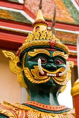 Thai art green giant