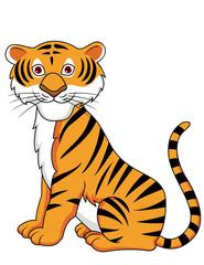 Tiger cartoon sitting