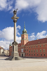 Sights of Poland. Warsaw Castle Square.