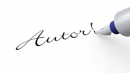 Stift Konzept - Autor!