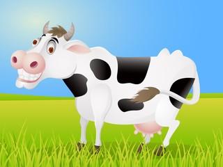 Foto auf Leinwand Bauernhof Cow cartoon