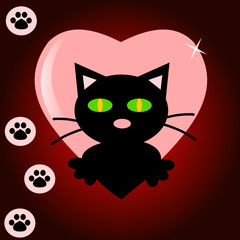 Cat on the heart