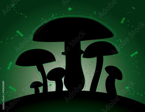 leuchtende pilze stockfotos und lizenzfreie vektoren auf bild 40661680. Black Bedroom Furniture Sets. Home Design Ideas