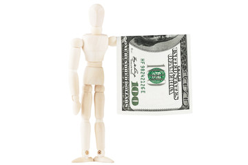 Dummy with dollars