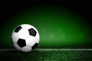 soccer ball in filed.