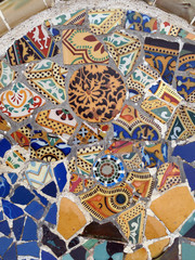 Gaudi Mosaic Tiles - Barcelona, Spain