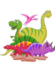 Photo sur cadre textile Dinosaurs Dinosaur cartoon