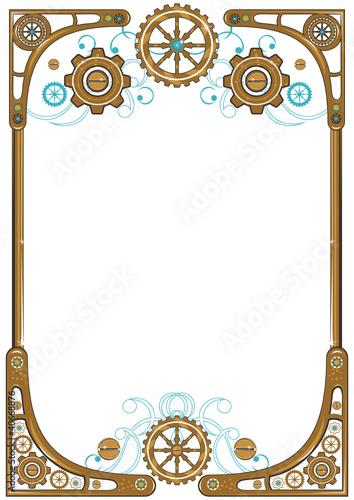 Steampunk frame\
