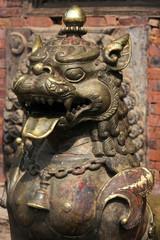 Lion doré sur Taumadhi Square