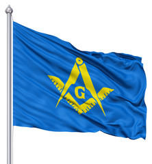 Waving Flag of Masonic