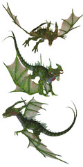 Wall Murals Dragons green dragon