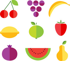 fruit forms with fruits template , illustration
