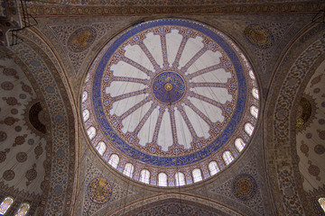 Cupola of Blue mosque in Istanbul, Turkey