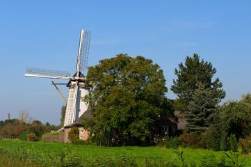 Dutch windmill in Hurwenen