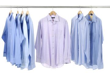 Close-up rack shirts