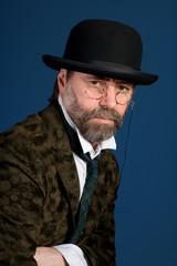 man in vintage glasses