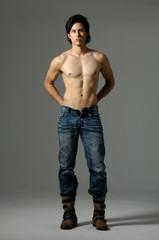 Full length casual health body of man.