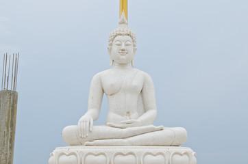 White marble buddha at U-thaithani province