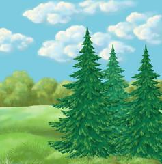 Picture, summer landscape