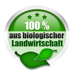 100% aus biologischer Landwirtschaft