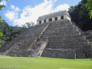 Palenque - Maya King Pakal tomb in the Temple of Inscriptions