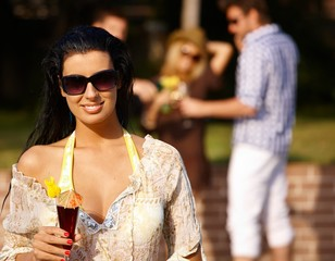 Beautiful woman at summertime