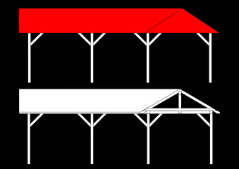 Shelters for the car as an illustration