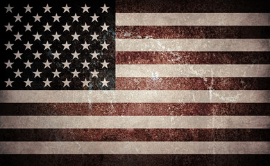Desaturated grunge styled USA flag