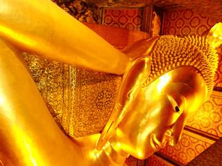 Reclining Buddha in Wat Pho, Bangkok, Thailand.