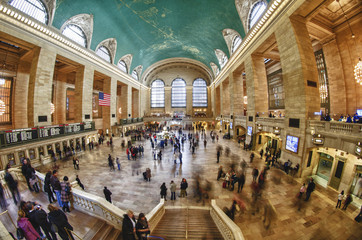 Tourists and Shoppers in Grand Central, NYC