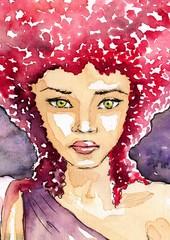 różowy portret