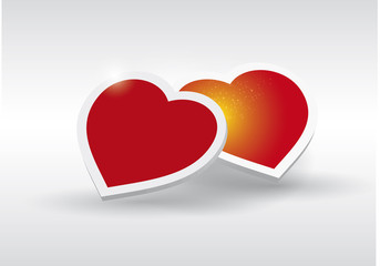 Red Heart  - Fall in love vector