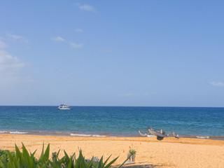 Canoe and Motor Boat, Maui, HI