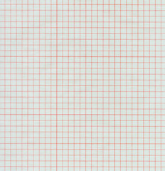 Half-transparent red graph paper