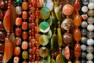 colour beads of different form