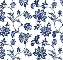 traditional floral pattern, textile design , royal India