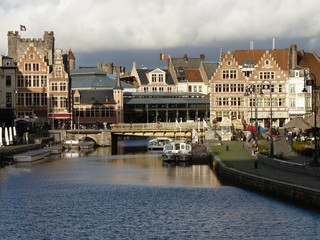 Gent, Belgium - Canal and waterfront