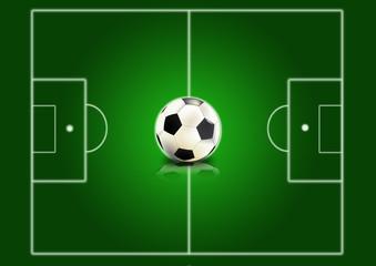 Fußballfeld mit Fußball